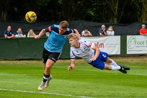 Ben Garwood in action against Cambridge City